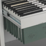 Pull out filing cradle